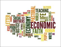 Economic Justice Word Collage