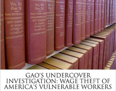 GAO Undercover Investigation of Wage Theft