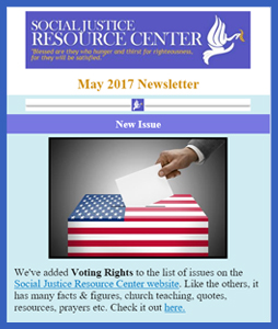 Social Justice Resource Center May 2017 Newsletter