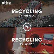 Recycling in America vs Recycling in Norway