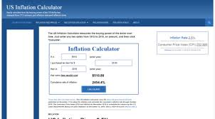 US Inflation Calculator
